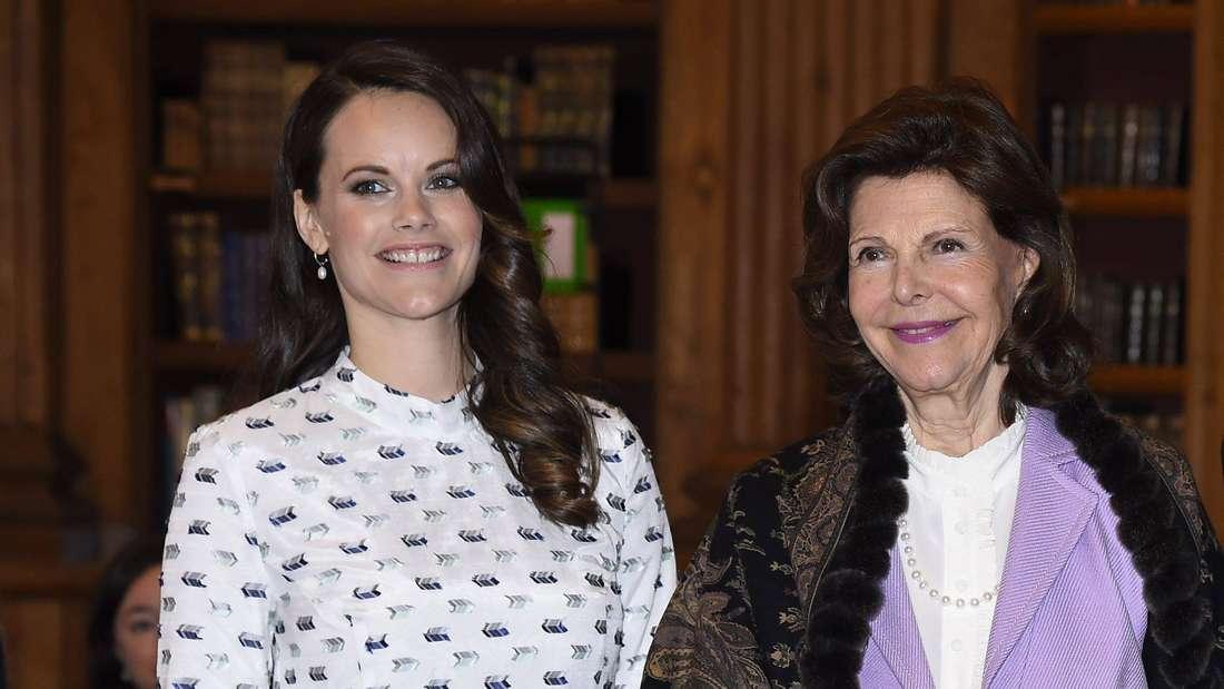 Prinzessin Sofia von Schweden posiert mit ihrer Schwiegermutter Königin Silvia.