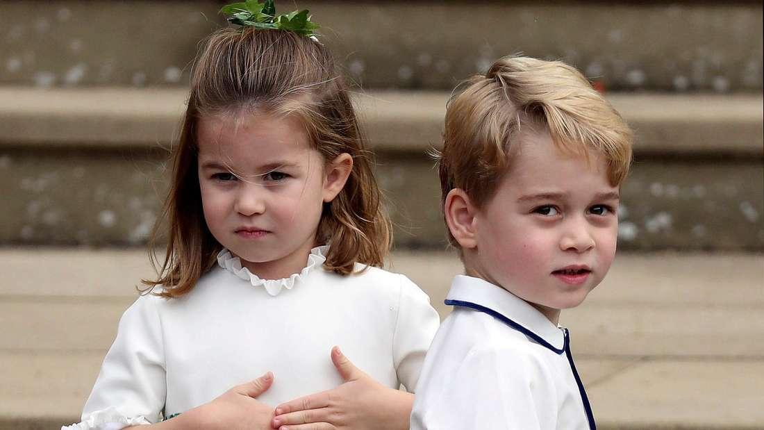 Prinzessin Charlotte und Prinz George sind festlich gekleidet (Symbolbild).