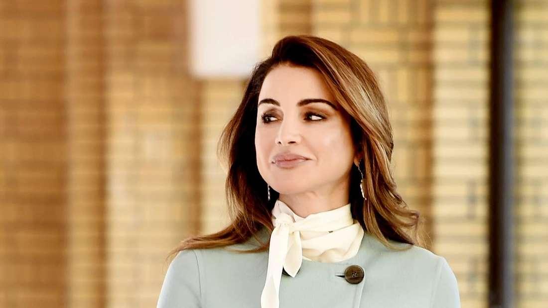 Prinzessin Rania von Jordanien besucht das Gemeentemuseum in Den Haag.