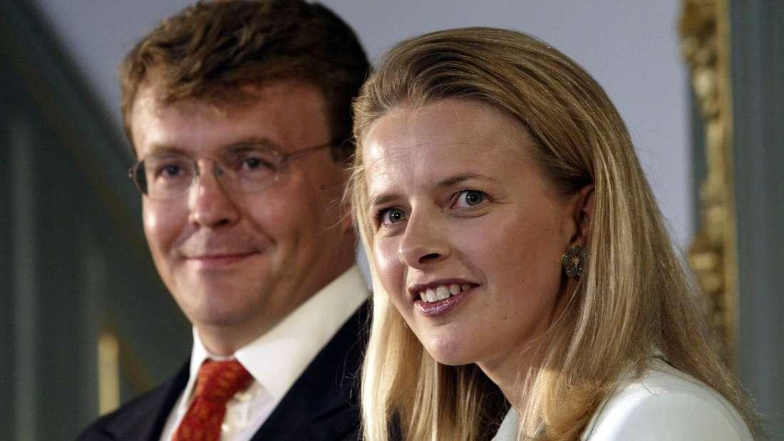 Prinz Johan Friso und Mabel Wisse Smit bei ihrer Verlobung in Den Haag