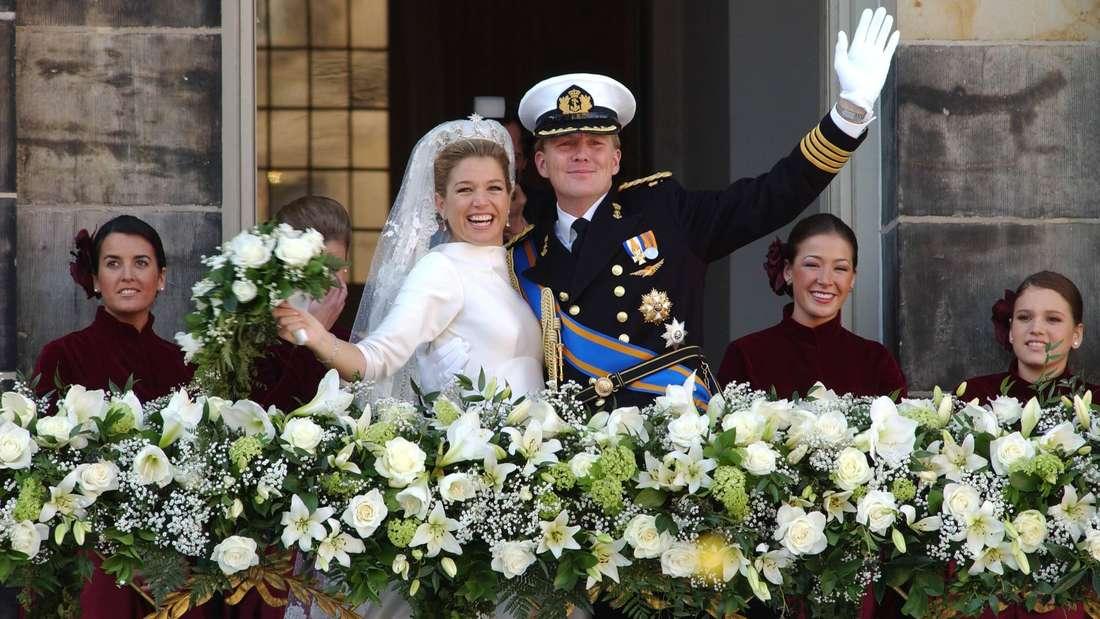 Máxima und Willem-Alexander bei ihrer Hochzeit