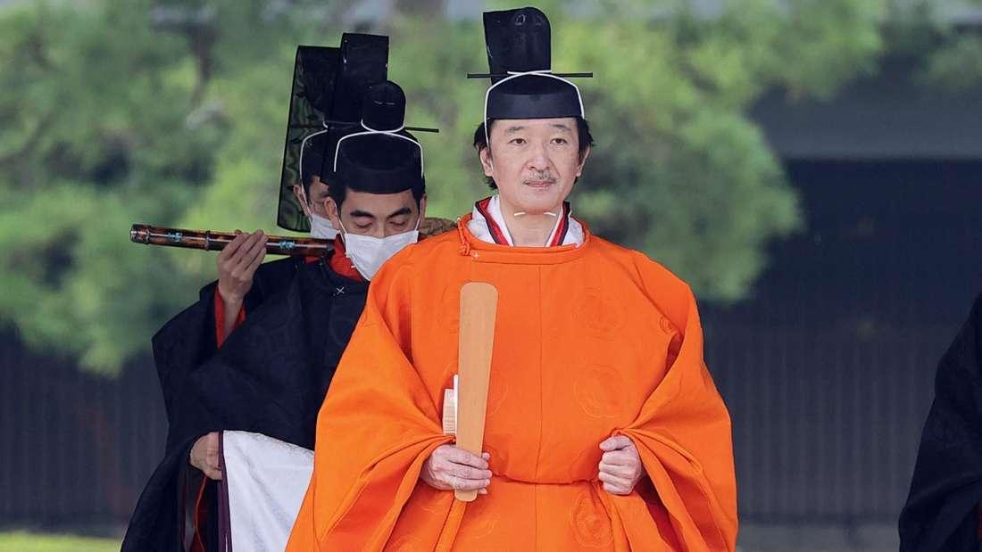Vereidigung von Kronprinz Fumihito in Japan