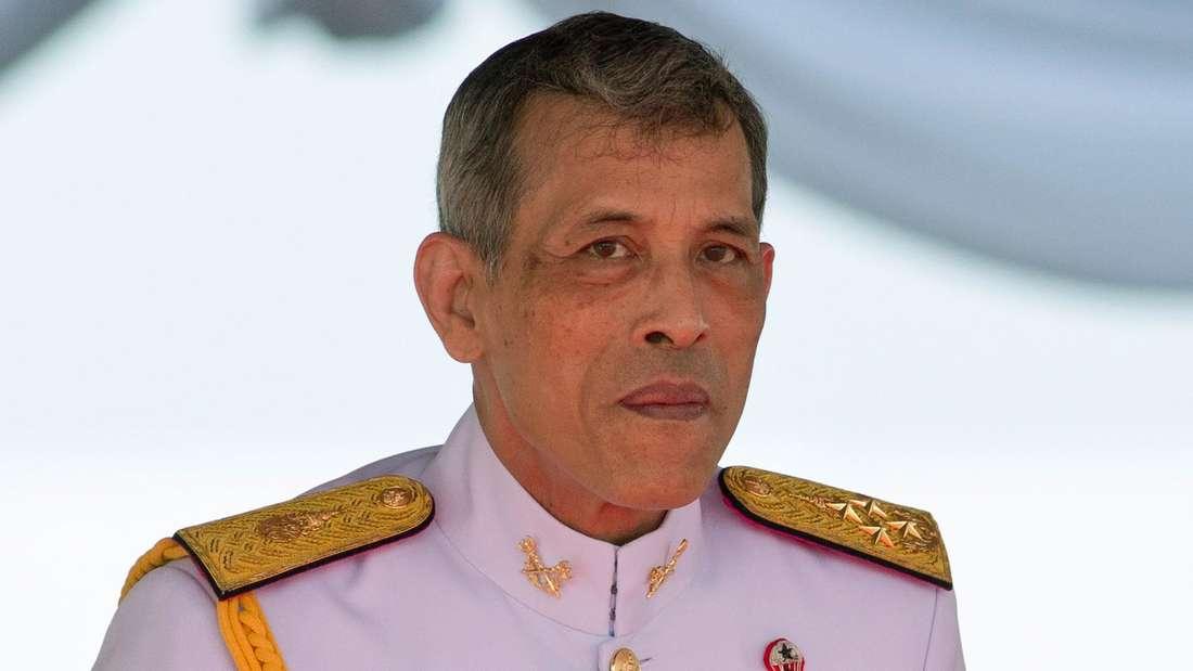 Maha Vajiralongkorn, König von Thailand, nimmt an der traditionellen königlichen Pflugzeremonie teil