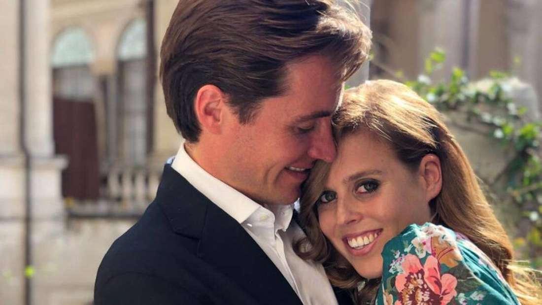Verlobungsfoto von Prinzessin Eugenie und Edoardo Mapelli Mozzi