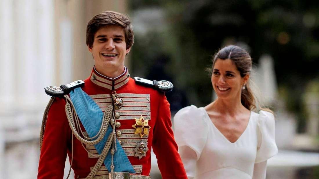 Carlos Fitz-James Stuart und Belen Corsini bei ihrer Hochzeit im Liria Palast