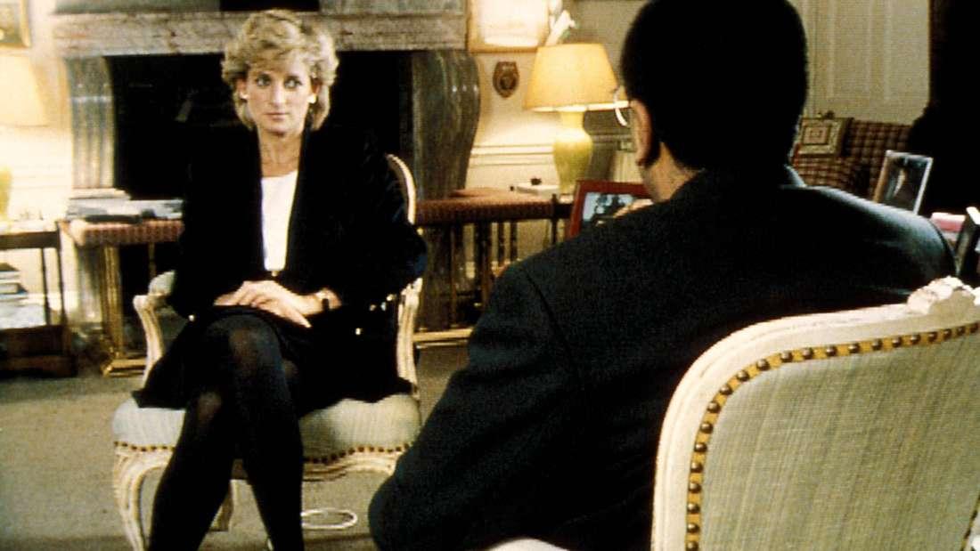 Prinzessin Diana sitzt dem Journalisten Marin Bashir gegenüber.