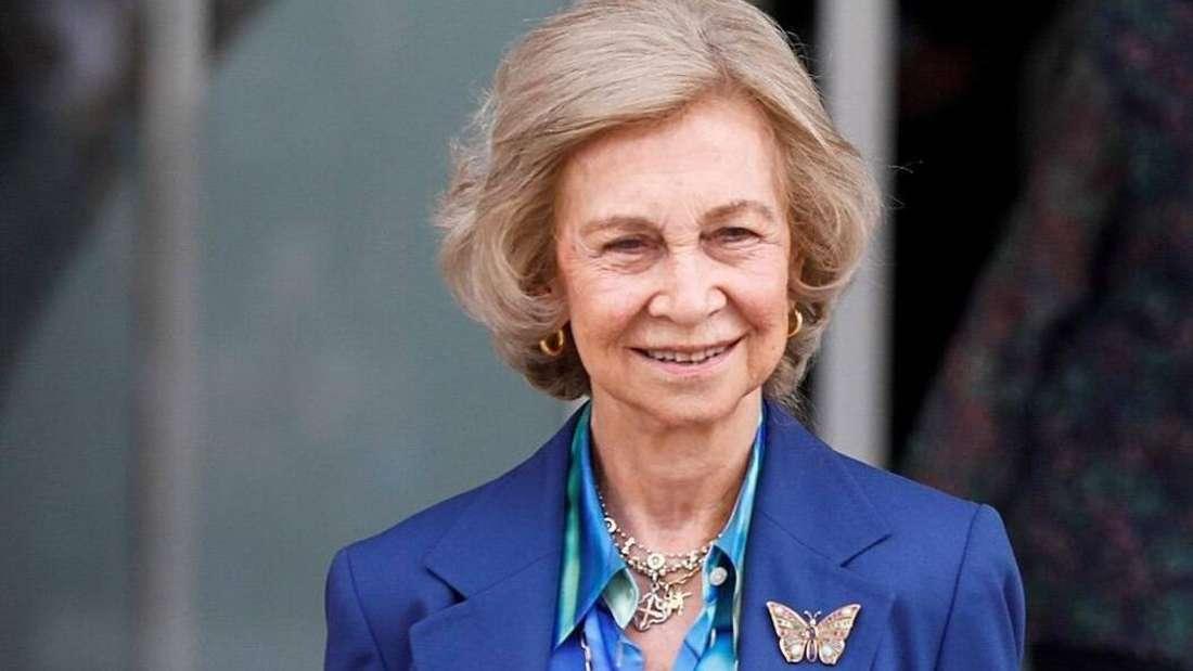 Altkönigin Sofía von Spanien lächelt (Symbolbild.)