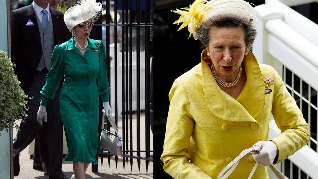 Zwei Ascot Outfits von Prinzessin Anne, der Princess Royal