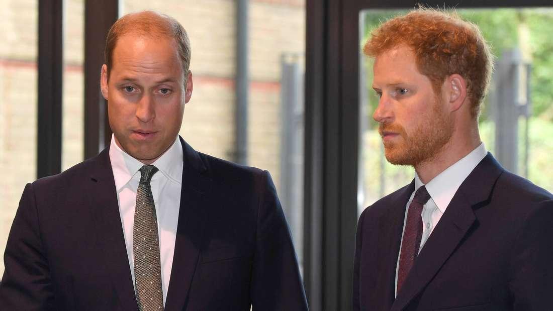 Prinz William und Prinz Harry stehen nebeneinander (Symbolbild).