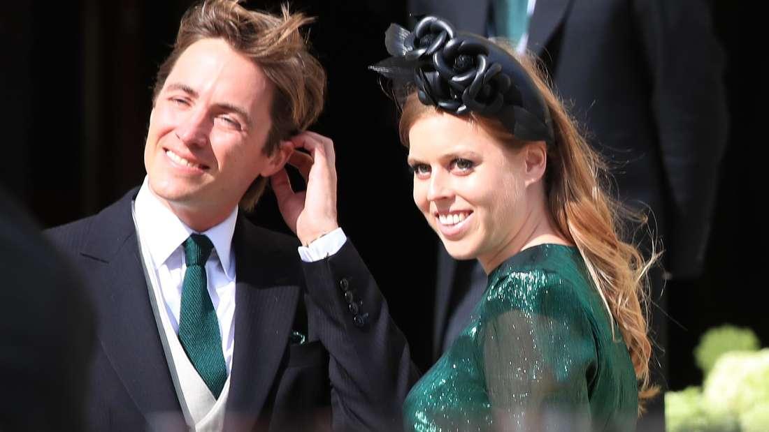 Prinzessin Beatrice von York bei der Hochzeit von der Sängerin Ellie Goulding und Caspar Jopling.