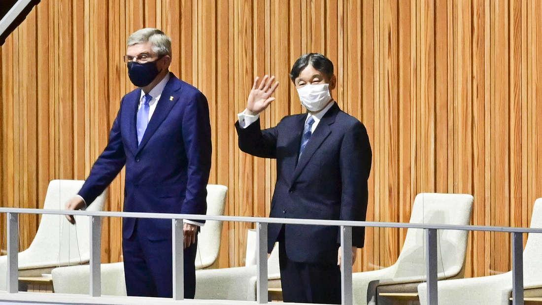 Kaiser Naruhito und IOC Präsident Thomas Bach eröffnen die Olympischen Sommerspiele in Tokio