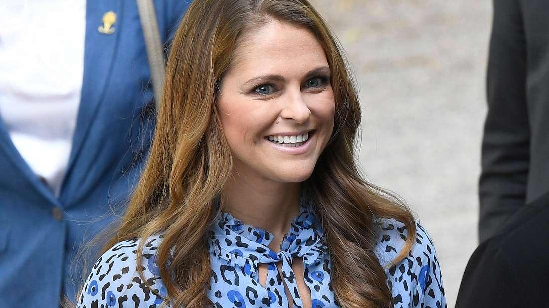 Prinzessin Madeleine von Schweden lächelt (Symbolbild).