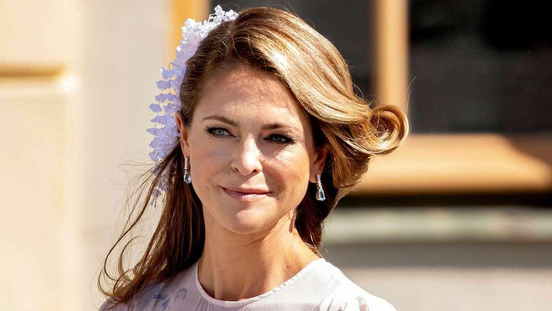 Prinzessin Madeleine mit ernstem Blick