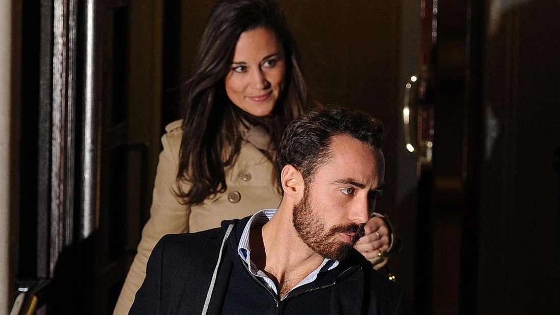 James und Pippa Middleton verlassen hintereinander die Geburtsklinik Herzogin Kates.